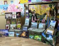 В библиотеке открыта экспозиция творческих работ инвалидов